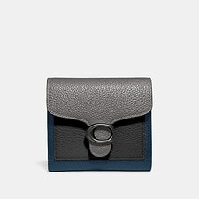 Image of Coach Australia V5/HEATHER GREY MULTI TABBY SMALL WALLET IN COLORBLOCK