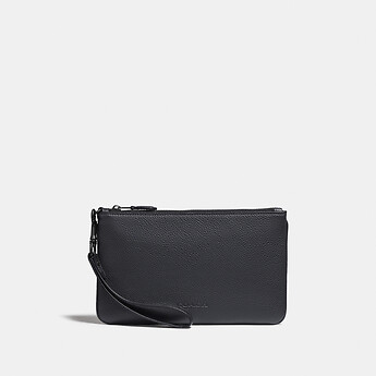 Image of Coach Australia  PHONE POUCH WITH SIGNATURE CANVAS BLOCKING