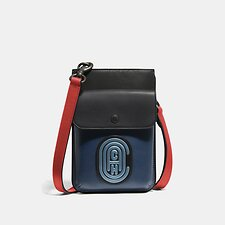 Image of Coach Australia TRUE BLUE MULTI HYBRID POUCH IN COLORBLOCK WITH COACH PATCH