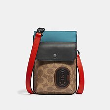 Image of Coach Australia  HYBRID POUCH WITH SIGNATURE CANVAS BLOCKING AND COACH PATCH