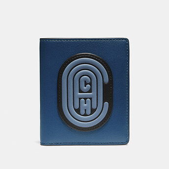 Image of Coach Australia  SLIM WALLET IN COLORBLOCK WITH COACH PATCH