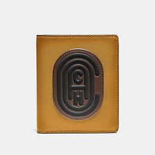 Image of Coach Australia DARK HONEY MULTI SLIM WALLET IN COLORBLOCK WITH COACH PATCH