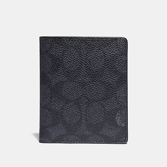 Image of Coach Australia  SLIM WALLET WITH SIGNATURE CANVAS BLOCKING