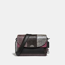 Image of Coach Australia V5/MULTICOLOR DREAMER SHOULDER BAG IN SNAKESKIN