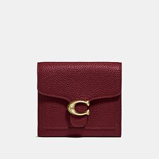 Image of Coach Australia GD/DEEP RED TABBY SMALL WALLET