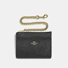 Image of Coach Australia GD/BLACK CHAIN CARD CASE