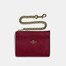 Image of Coach Australia GD/DEEP RED CHAIN CARD CASE