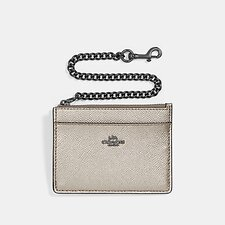 Image of Coach Australia GM/PLATINUM CHAIN CARD CASE