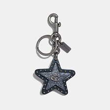 Image of Coach Australia DK/HEATHER GREY STUDDED STAR BAG CHARM