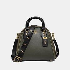 Image of Coach Australia B4/KELP MULTI MARLEIGH SATCHEL IN COLORBLOCK WITH COACH PATCH