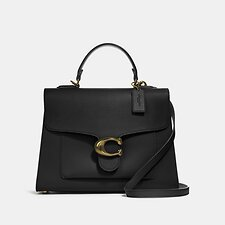 Image of Coach Australia B4/BLACK TABBY TOP HANDLE