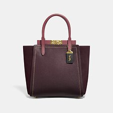 Image of Coach Australia B4/VINTAGE MAUVE MULTI TROUPE TOTE IN COLORBLOCK