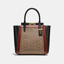 Image of Coach Australia B4/TAN RUST TROUPE TOTE IN SIGNATURE CANVAS