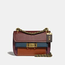 Image of Coach Australia B4/DARK BRICK MULTI TROUPE CROSSBODY IN COLORBLOCK