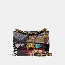 Image of Coach Australia B4/BLACK MULTI TROUPE CROSSBODY WITH KAFFE FASSETT PRINT