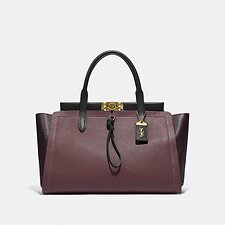 Image of Coach Australia B4/VINTAGE MAUVE MULTI TROUPE CARRYALL 35 IN COLORBLOCK