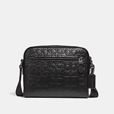 Image of Coach Australia QB/BK METROPOLITAN SOFT CAMERA BAG IN SIGNATURE LEATHER