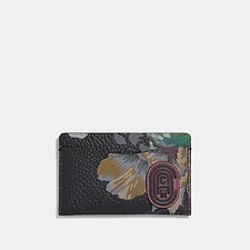 Image of Coach Australia V5/BLACK MULTI SMALL CARD CASE WITH KAFFE FASSETT PRINT