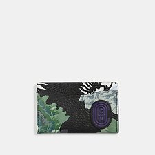 Image of Coach Australia V5/GREEN MULTI SMALL CARD CASE WITH KAFFE FASSETT PRINT