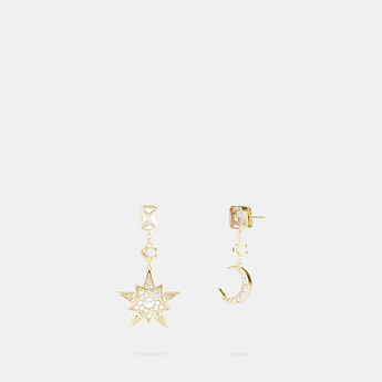 Image of Coach Australia  SIGNATURE MOONSTAR DROP EARRINGS