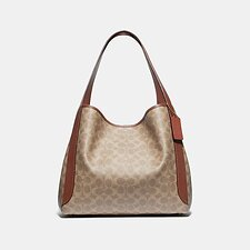 Image of Coach Australia B4/TAN RUST HADLEY HOBO IN SIGNATURE CANVAS