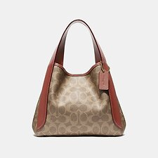 Image of Coach Australia B4/TAN RUST HADLEY HOBO 21 IN SIGNATURE CANVAS