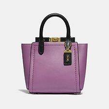 Image of Coach Australia B4/LILAC BERRY MULTI TROUPE TOTE 16 IN COLORBLOCK