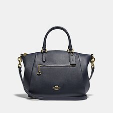 Image of Coach Australia GD/MIDNIGHT NAVY ELISE SATCHEL 29