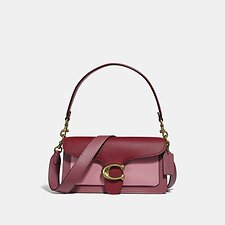 Image of Coach Australia B4/DEEP RED MULTI TABBY SHOULDER BAG 26 IN COLORBLOCK