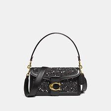 Image of Coach Australia V5/BLACK BLACK TABBY SHOULDER BAG 26