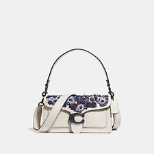 Image of Coach Australia V5/CHALK TABBY SHOULDER BAG 26 WITH LEATHER SEQUINS
