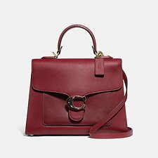 Image of Coach Australia B4/DEEP RED TABBY TOP HANDLE