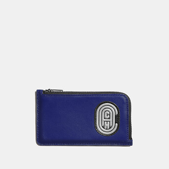 Image of Coach Australia  L-ZIP CARD CASE WITH REFLECTIVE COACH PATCH