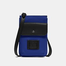 Image of Coach Australia SPORT BLUE/SILVER HYBRID POUCH IN COLORBLOCK