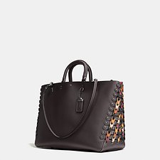 Picture of ROGUE TOTE IN COLORBLOCK COACH LINK LEATHER