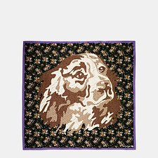 Picture of DOG FLOWER PATCHWORK OVERSIZED SQUARE