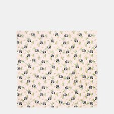 Image of Coach Australia PALE PINK MULTI DOG FLOWER OVERSIZED SQUARE