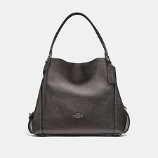 Image of Coach Australia  EDIE SHOULDER BAG 31 IN METALLIC LEATHER