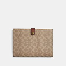 Image of Coach Australia B4/TAN DEEP RED SMALL TECH CASE IN SIGNATURE CANVAS
