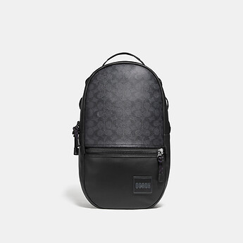 Image of Coach Australia  PACER BACKPACK IN SIGNATURE CANVAS WITH COACH PATCH
