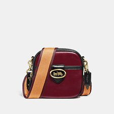 Image of Coach Australia B4/DEEP RED MULTI KAT CAMERA BAG IN COLORBLOCK