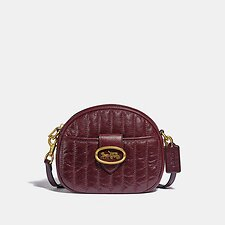 Image of Coach Australia B4/CRANBERRY KAT CROSSBODY WITH QUILTING