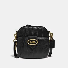 Image of Coach Australia B4/BLACK KAT CAMERA BAG WITH QUILTING