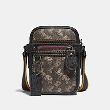 Image of Coach Australia JI/BLACK BROWN DYLAN 10 WITH HORSE AND CARRIAGE PRINT