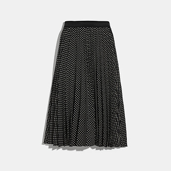 Image of Coach Australia  MICRO DOT PLEATED SKIRT