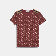 Image of Coach Australia RED HORSE AND CARRIAGE PIQUE T-SHIRT