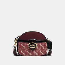 Image of Coach Australia B4/RED DEEP RED MULTI KAT CROSSBODY WITH HORSE AND CARRIAGE PRINT