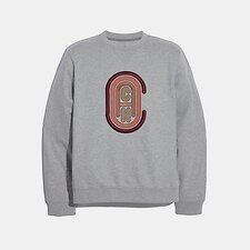 Image of Coach Australia HEATHER GREY COACH SWEATSHIRT