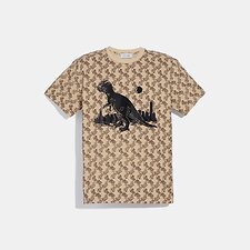 Image of Coach Australia CAMEL HORSE AND CARRIAGE PRINT REXY IN THE CITY T-SHIRT