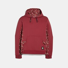 Image of Coach Australia RED LUNAR NEW YEAR NYLON DETAIL HOODIE